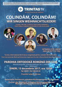 Afis concert colinde Parohia ULM 15 decembrie FINAL